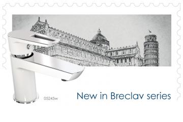 Breclav White - combination of white and chrome